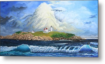 Main Lighthouse Metal Print by Mike Ivey