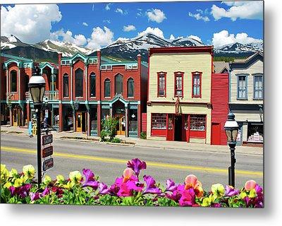 Main Street - Breckenridge Colorado Metal Print