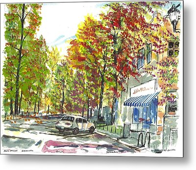Main Street Greenville Fall Metal Print
