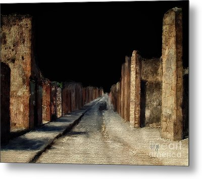 Metal Print featuring the digital art Main Street, Pompeii by Lois Bryan