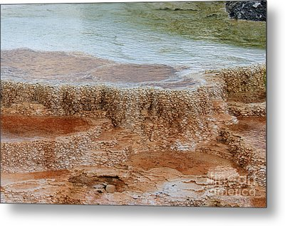 Metal Print featuring the photograph Main Terrace Textures by Charles Kozierok