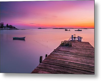 Metal Print featuring the photograph Maine Cooks Corner Lobster Shack At Sunset by Ranjay Mitra