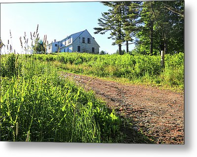 Maine House Metal Print by Laurie Breton