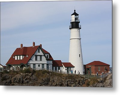 Maine Light House Metal Print by Sue Mayor