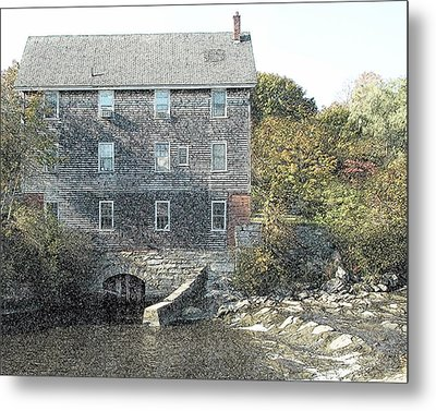 Maine Mill Metal Print
