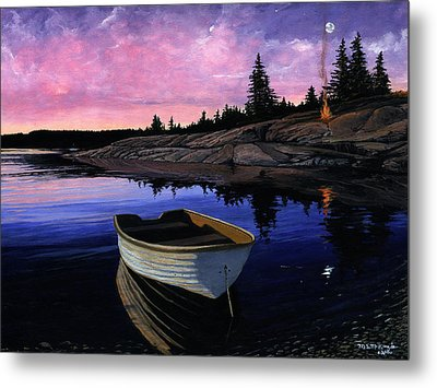 Maine Reflections Metal Print by M S McKenzie