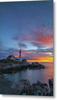 Maine Worth A Visit Worth A Lifetim Metal Print