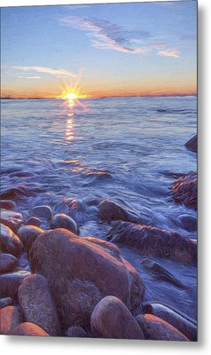 Mainly Water II Metal Print by Jon Glaser