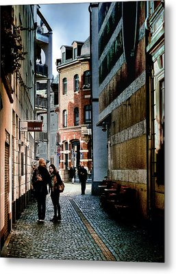 Metal Print featuring the photograph Mainz Badergasse by Jim Hill