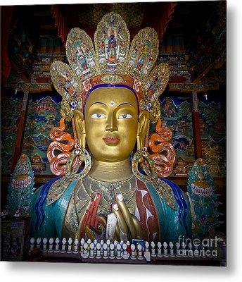 Maitreya Buddha Metal Print by Hitendra SINKAR