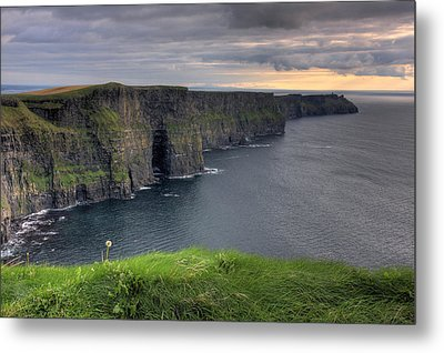 Majestic Cliffs Of Moher Co. Clare Ireland Metal Print by Pierre Leclerc Photography