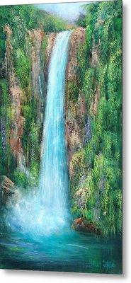 Majestic Falls Metal Print by Sally Seago