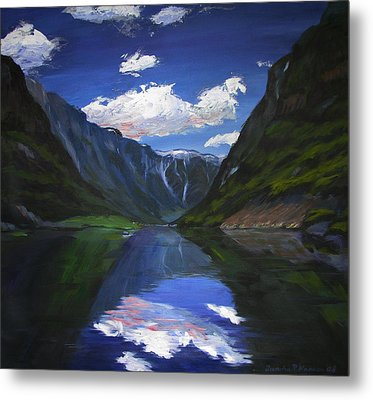 Majestic Fjords Metal Print