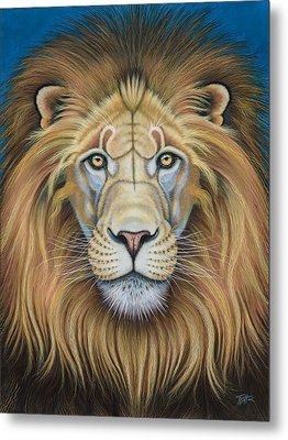 The Lion's Mane Attraction Metal Print