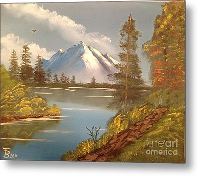 Majestic Mountain Lake Metal Print by Tim Blankenship