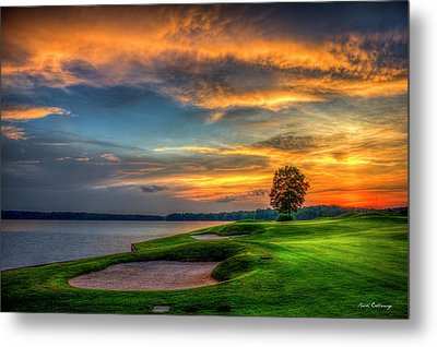 Metal Print featuring the photograph Majestic Number 4 The Landing Reynolds Plantation Art by Reid Callaway