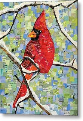 Majestic Red Cardinal  Metal Print by Shawna Rowe