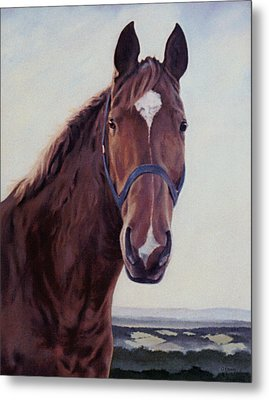 Metal Print featuring the painting Majestic Roger by Gillian Owen