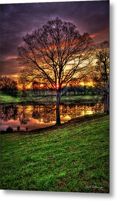 Metal Print featuring the photograph Majestic Sunrise Reflections by Reid Callaway