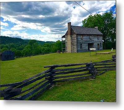 Majestic Wolf House Stands  Metal Print