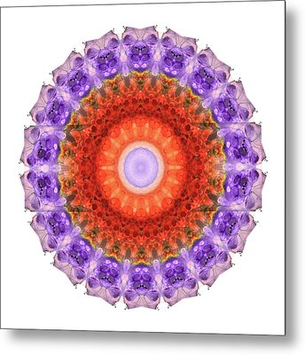 Majesty Mandala Art By Sharon Cummings Metal Print by Sharon Cummings
