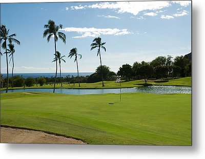 Makaha Golf Course Metal Print by Bill Bachmann - Printscapes