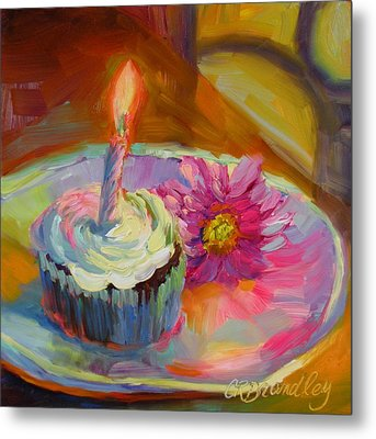 Metal Print featuring the painting Make A Wish by Chris Brandley