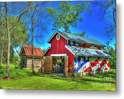Metal Print featuring the photograph Make America Great Again Barn American Flag Art by Reid Callaway