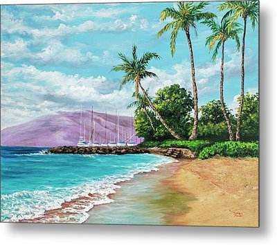 Metal Print featuring the painting Makila Beach by Darice Machel McGuire