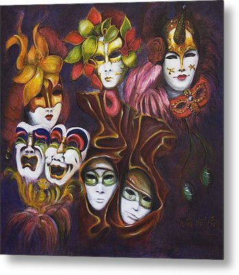 Making Faces I Metal Print by Nik Helbig