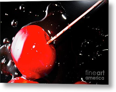 Making Homemade Sticky Toffee Apples Metal Print