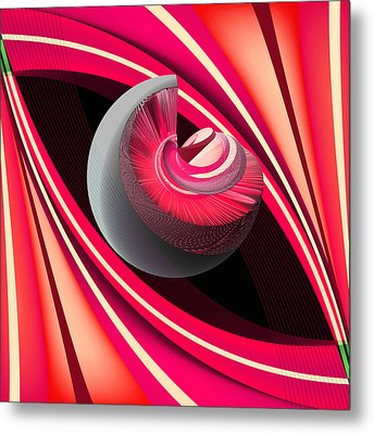 Metal Print featuring the digital art Making Pink Planets by Angelina Vick