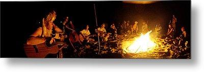 Makua Bonfire 2010 Metal Print by Erika Swartzkopf