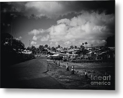 Metal Print featuring the photograph Mala Wharf Ala Moana Street Lahaina Maui Hawaii by Sharon Mau