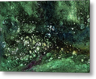 Malachite- Abstract Art By Linda Woods Metal Print