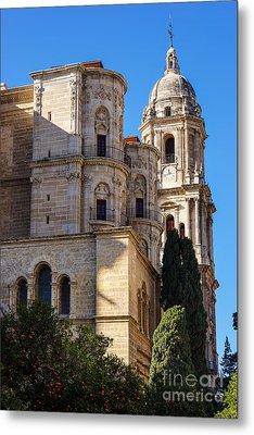 Malaga Cathedral Metal Print by Lutz Baar