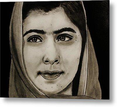 Malala Yousafzai- Teen Hero Metal Print