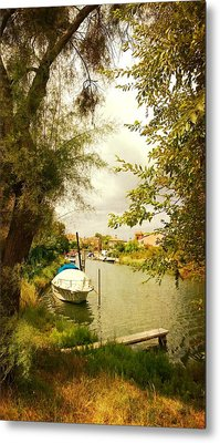 Metal Print featuring the photograph Malamocco Canal No1 by Anne Kotan