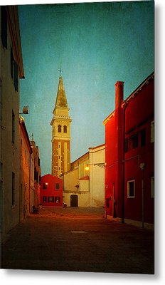 Metal Print featuring the photograph Malamocco Dusk No1 by Anne Kotan