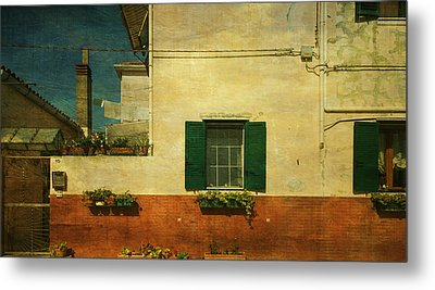 Metal Print featuring the photograph Malamocco Facade No1 by Anne Kotan