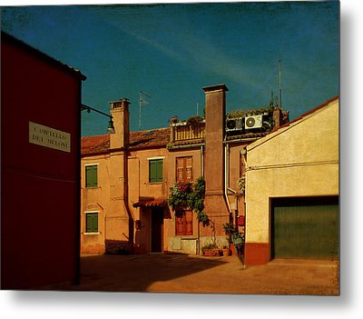 Metal Print featuring the photograph Malamocco House No2 by Anne Kotan