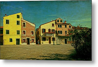 Metal Print featuring the photograph Malamocco Main Street No1 by Anne Kotan