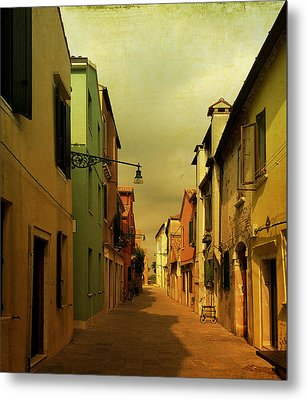 Metal Print featuring the photograph Malamocco Perspective No1 by Anne Kotan