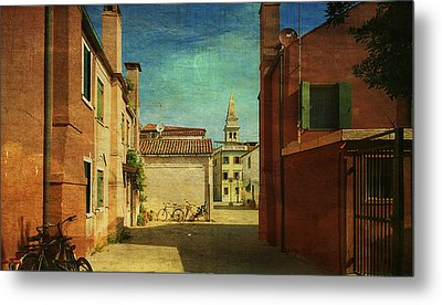 Metal Print featuring the photograph Malamocco Perspective No3 by Anne Kotan