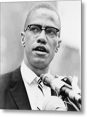 Malcolm X 1925-1965, Forceful African Metal Print by Everett