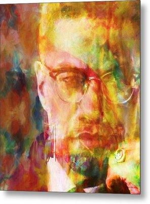 Malcolm X Metal Print by Dan Sproul