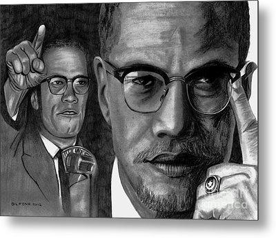 Malcolm X Metal Print by Gil Fong