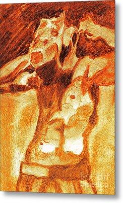 Male Boxer Metal Print by Kim Wilcox