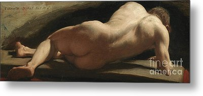 Male Nude Metal Print by William Frederick Witherington