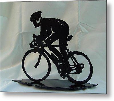 Male Road Racer Metal Print by Steve Mudge